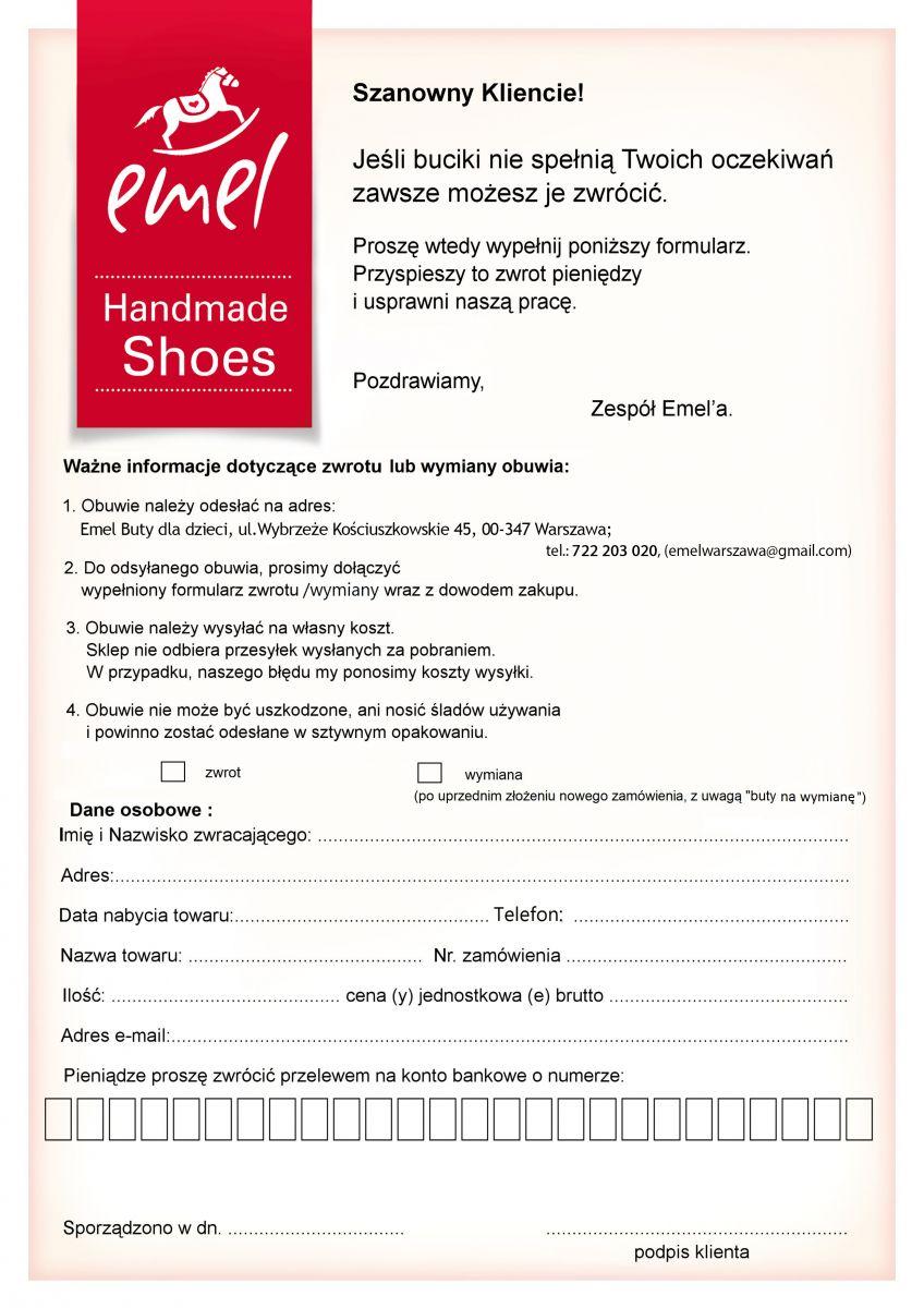 07ab9fae3d438f ... adres siedziby sklepu: Emel buty dla dzieci, ul. Wybrzeże  Kościuszkowskie 45, 00-347 Warszawa.